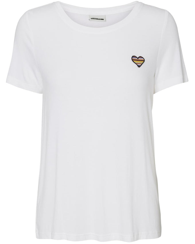 NMFAME PATCH  T-SHIRT Bright White