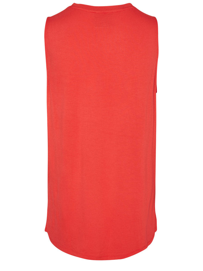 HIGH-LOW SLEEVELESS BLOUSE HIBISCUS