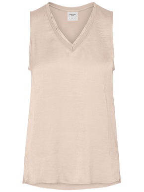 HIGH-LOW SLEEVELESS BLOUSE