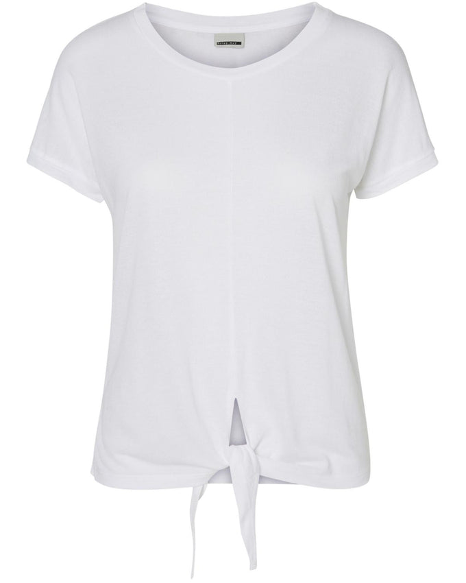 KNOT DETAIL T-SHIRT WHITE