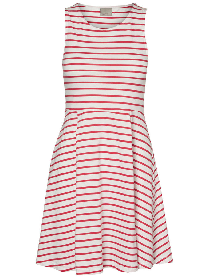 STRIPED SLEEVELESS DRESS SNOW WHITE STRIPES
