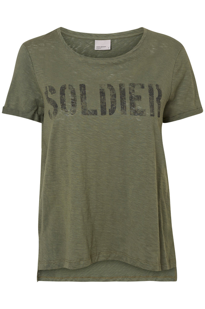 T-SHIRT VMARMY VERT TOURBE/SOLDIER