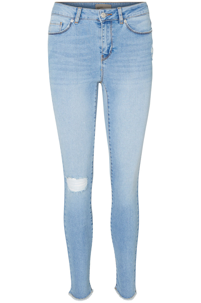 VMSEVEN RAW EDGES ANKLE SLIM JEANS 958 LIGHT BLUE DENIM
