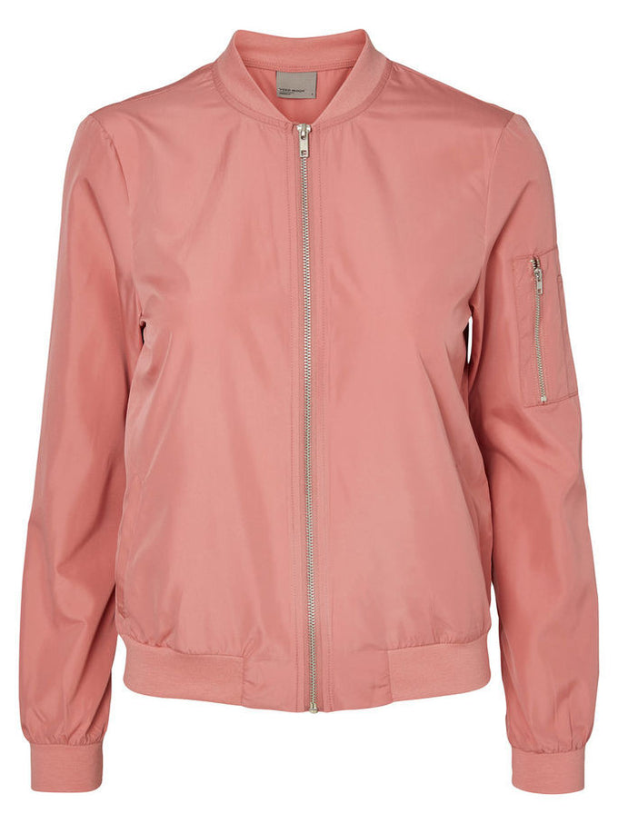 VMBILLA LIGHT BOMBER JACKET Dusty Rose