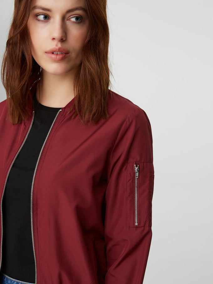VMBILLA LIGHT BOMBER JACKET Zinfandel