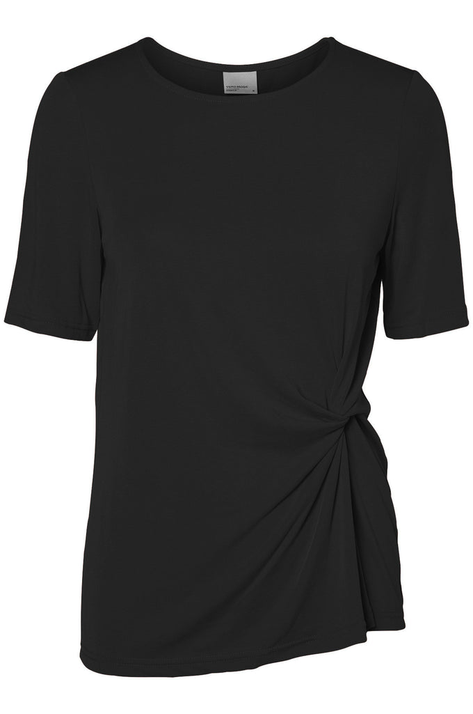 VMGREY KNOT T-SHIRT BLACK