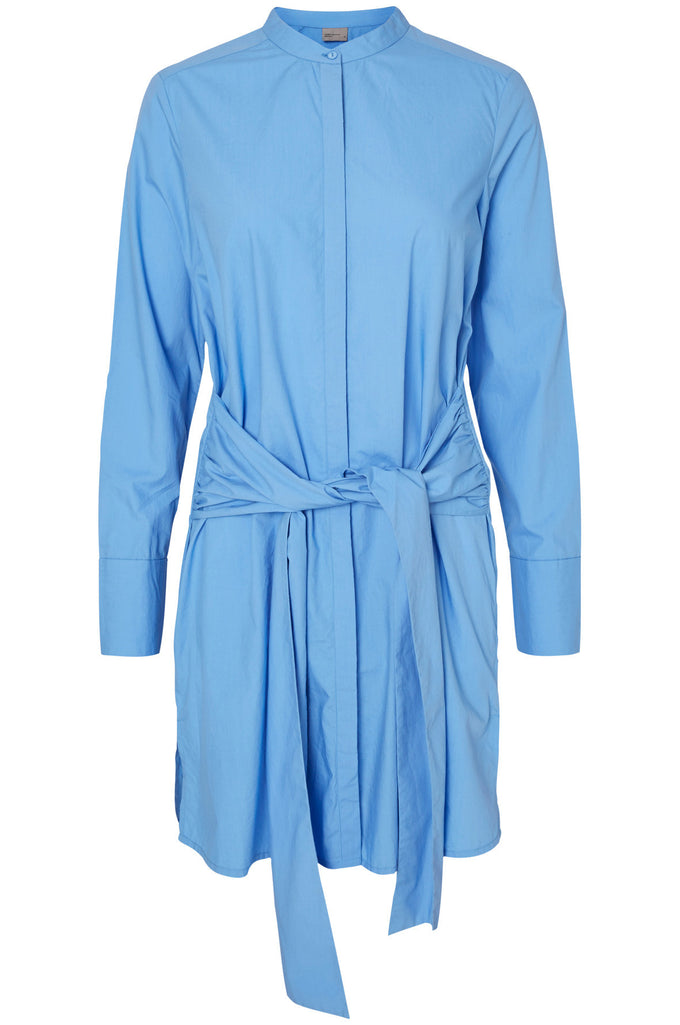 VMGAIA SHIRT DRESS BLUE