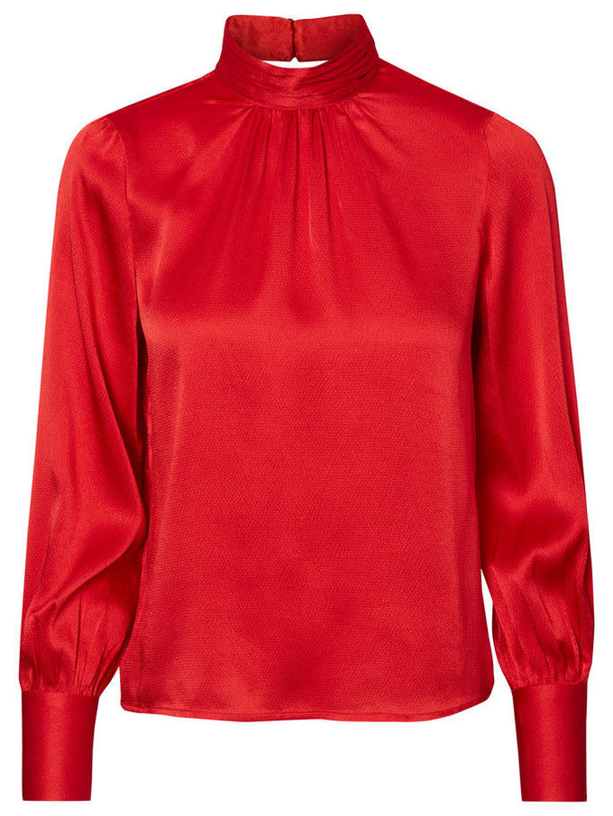 VMNELLIE LACE BLOUSE RACING RED