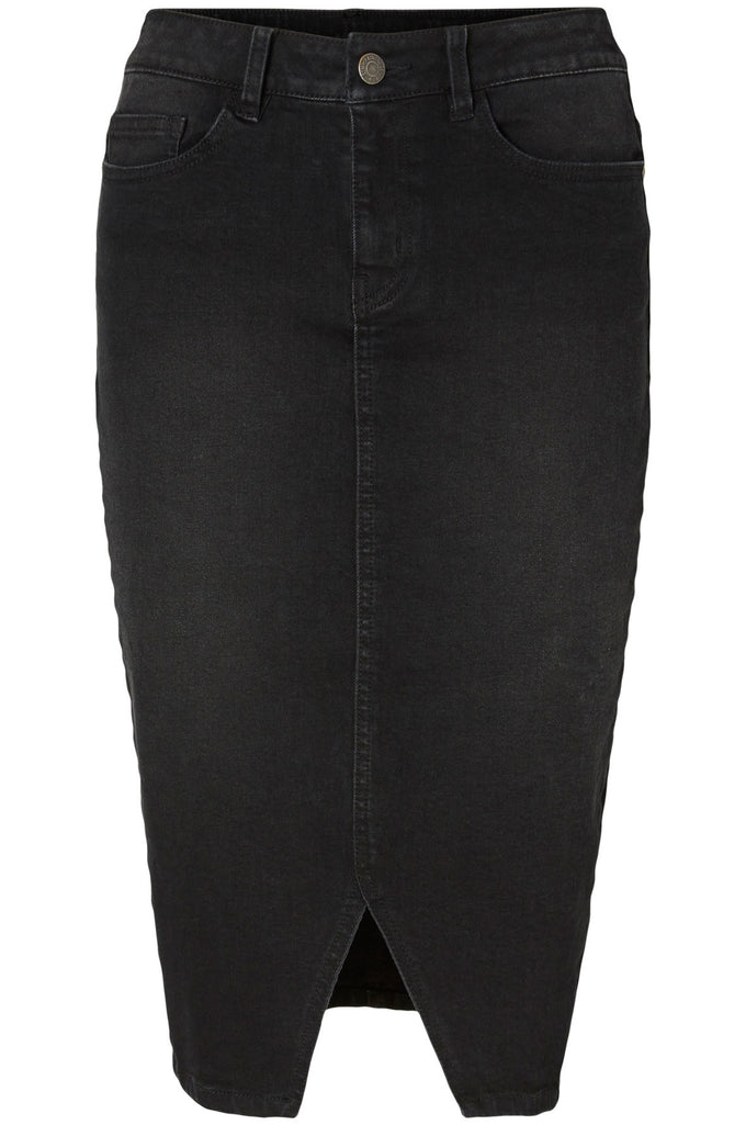 VMSUSANNA DENIM PENCIL SKIRT BLACK