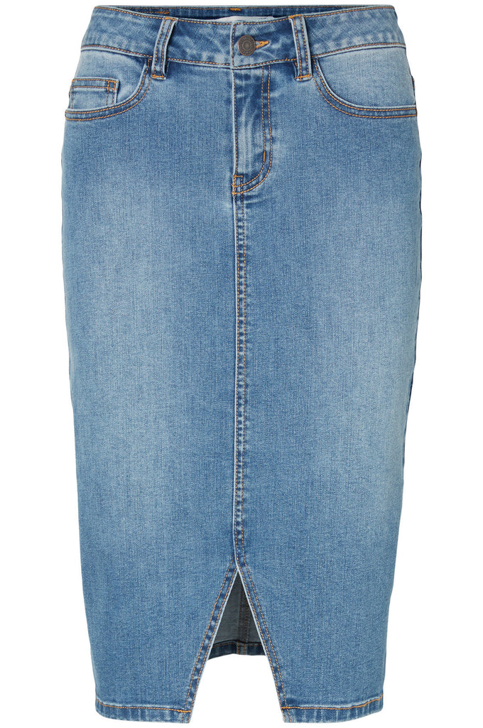 VMSUSANNA DENIM PENCIL SKIRT MEDIUM BLUE DENIM