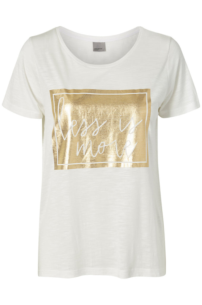 PRINTED WHITE T-SHIRT SNOW WHITE