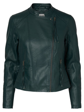 COLORFUL FAUX-LEATHER JACKET