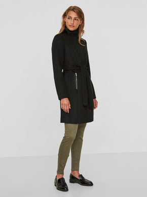 HIGH NECK WOOL COAT