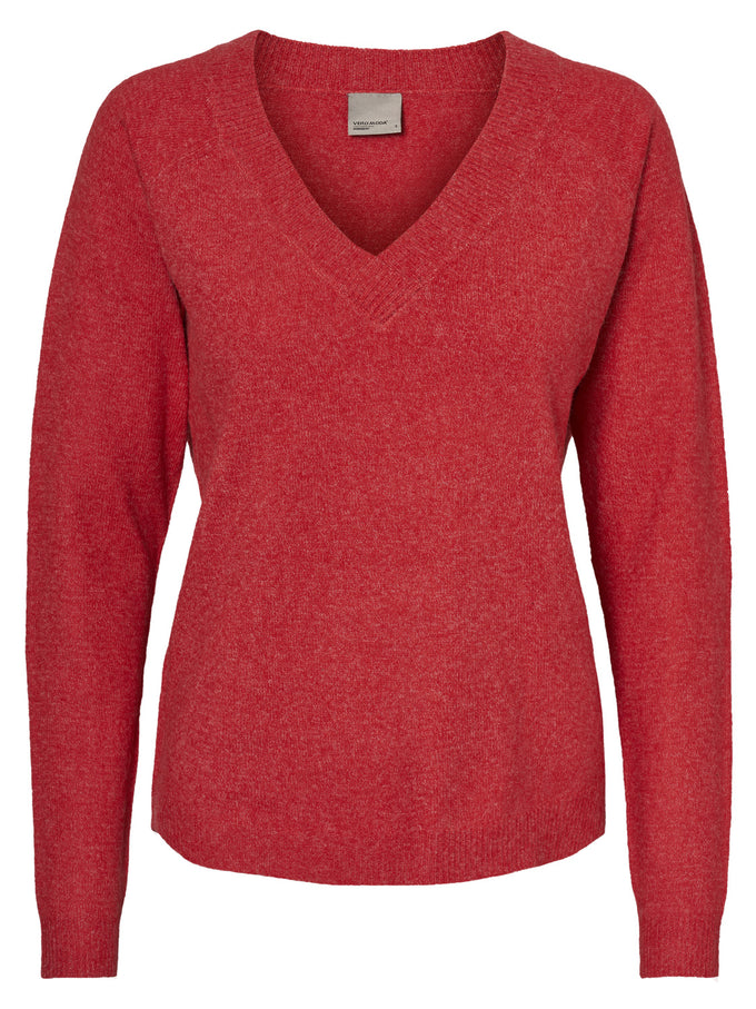 ALPACA WOOL-BLEND SWEATER FLAME SCARLET