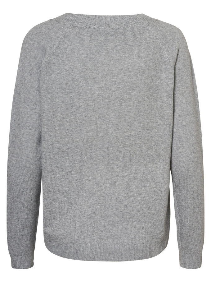 ALPACA WOOL-BLEND SWEATER LIGHT GREY MELANGE