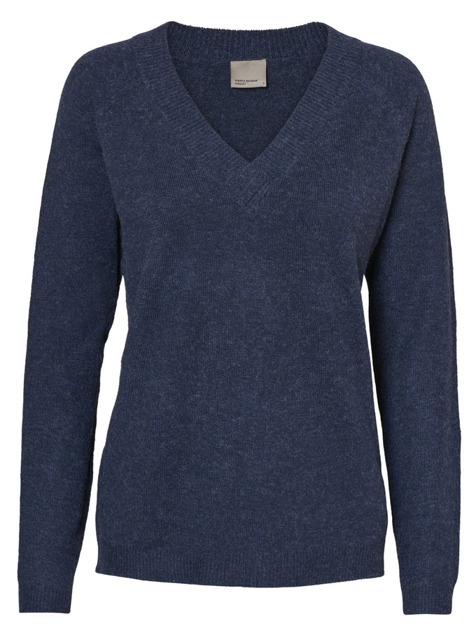 ALPACA WOOL-BLEND SWEATER NAVY BLAZER