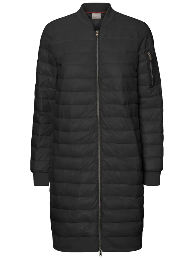 LONG QUILTED COAT BLACK BEAUTY