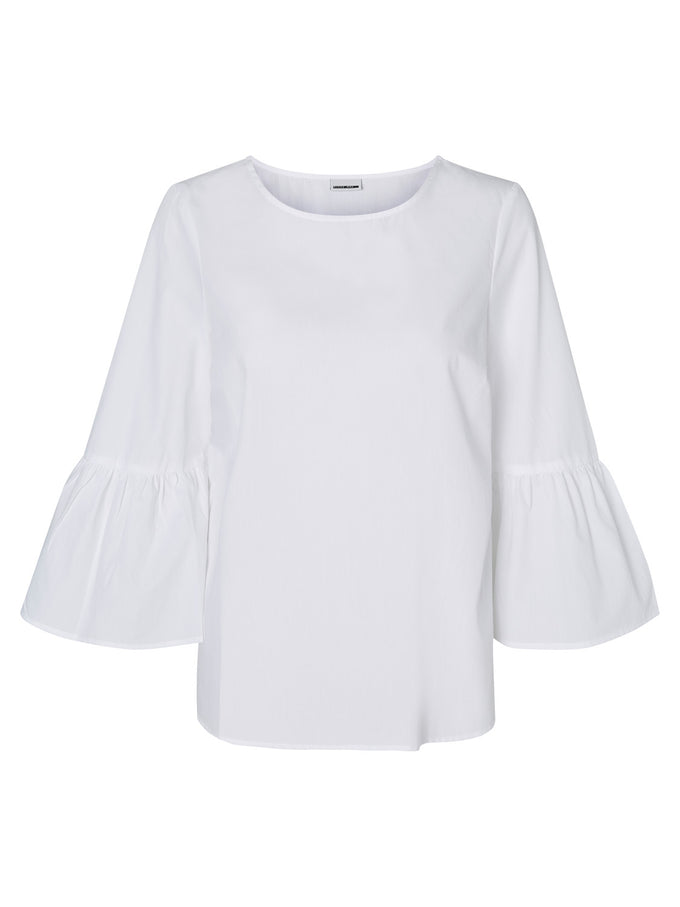 BELL SLEEVE BLOUSE BRIGHT WHITE