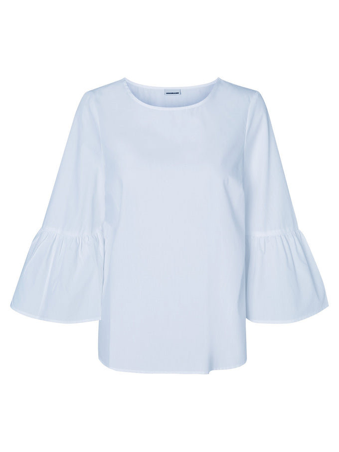 BELL SLEEVE BLOUSE CASHMERE BLUE