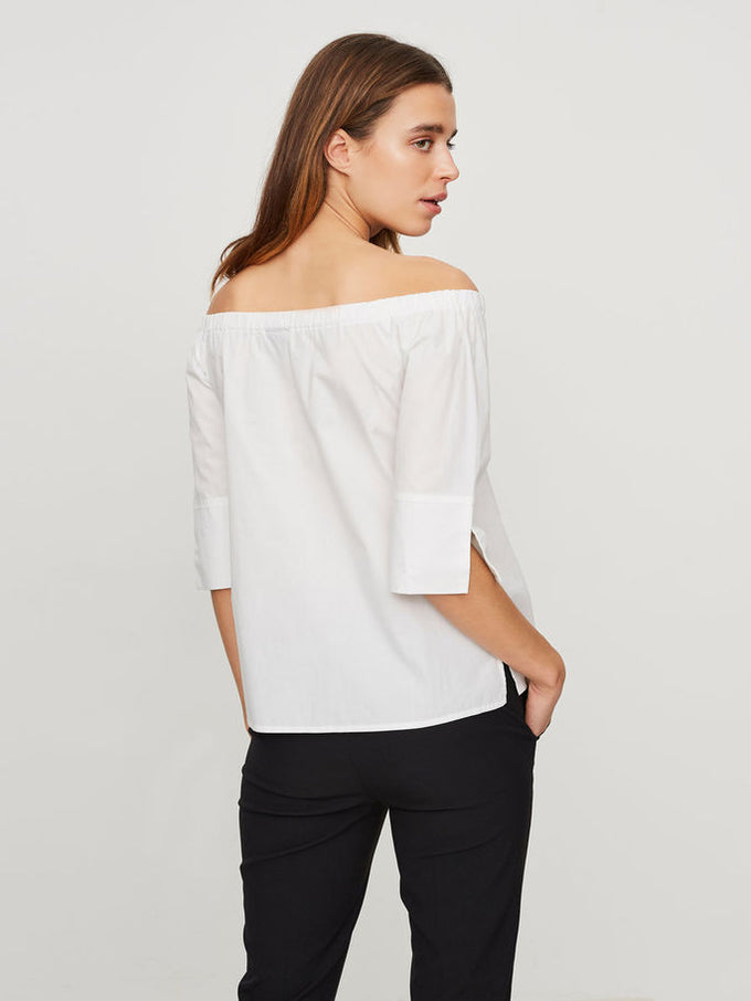 VMDAHLIA OFF-THE-SHOULDER BLOUSE BRIGHT WHITE