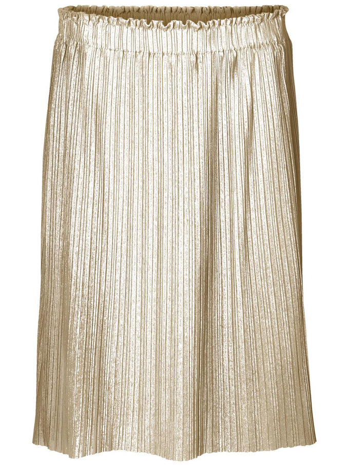 METALLIC MIDI PLEATED SKIRT MOONLIGHT