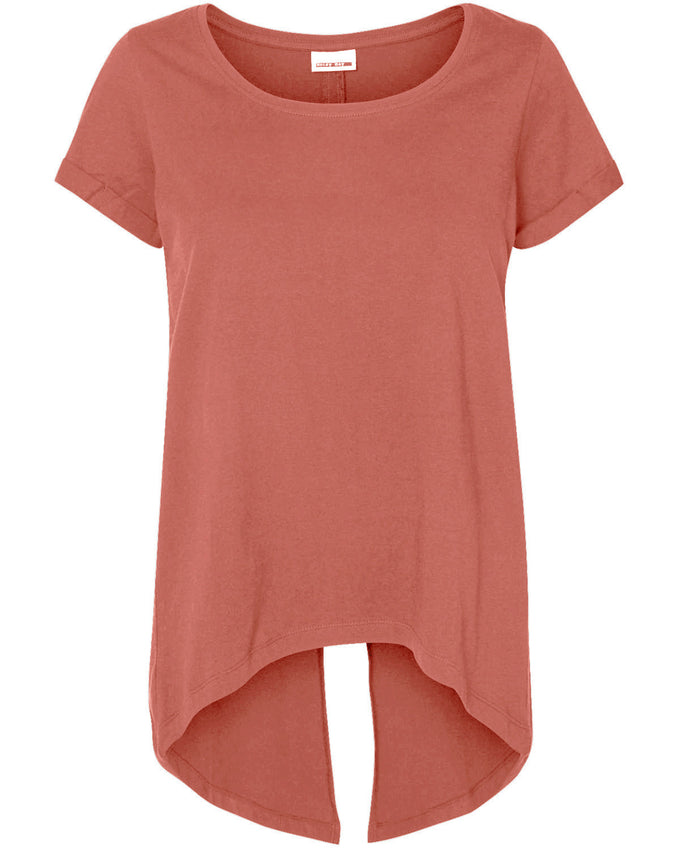 TSHIRT NMFRED VIEUX ROSE
