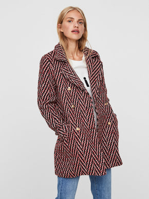 HERRINGBONE PATTERN COAT