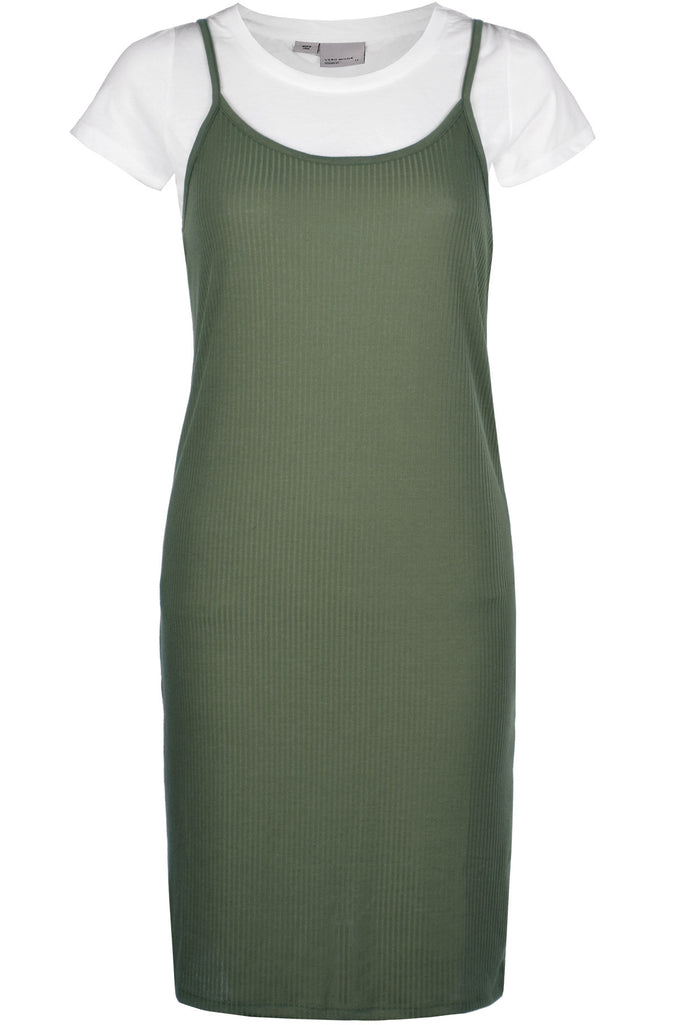 2 IN 1 CAMI DRESS IVY GREEN