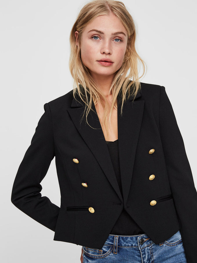 STRUCTURED SHORT BLAZER BLACK BEAUTY