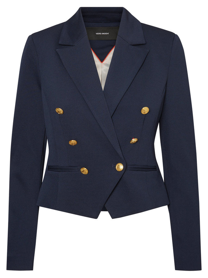 STRUCTURED SHORT BLAZER NAVY BLAZER