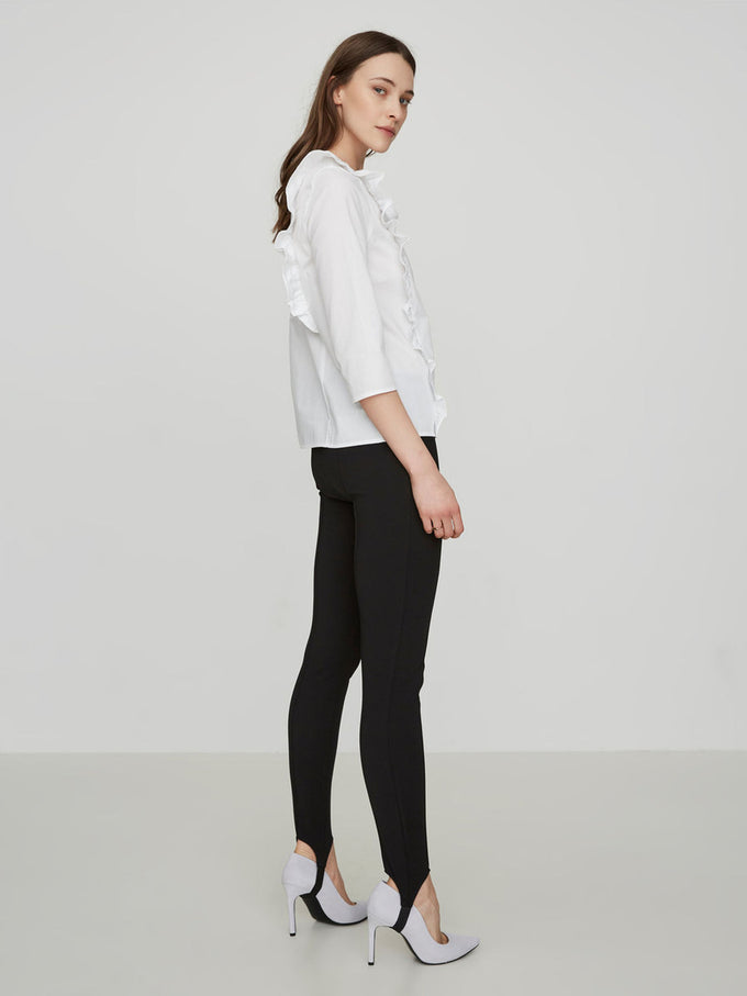 STIRRUP DETAIL LEGGINGS BLACK