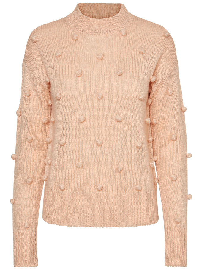 HIGH NECK SWEATER ROSE CLOUD