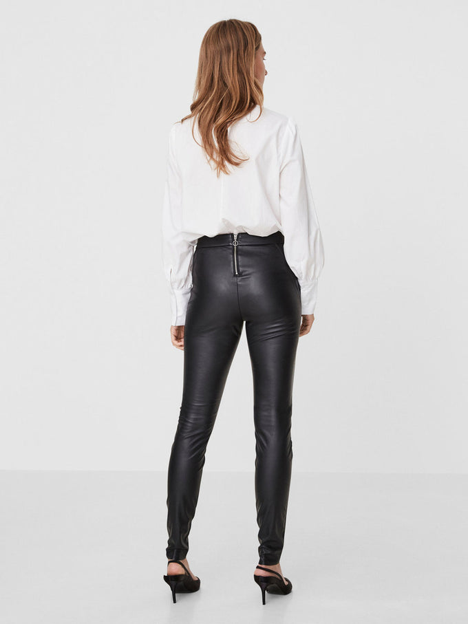 VMSERENA FAUX-LEATHER LEGGING BLACK
