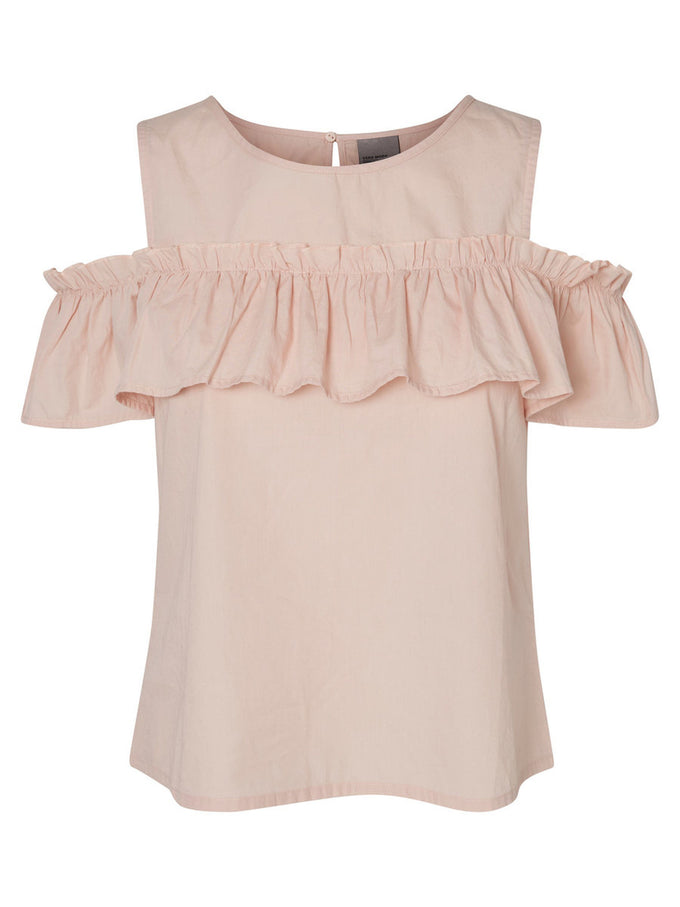 COLD SHOULDERS BLOUSE CAMEO ROSE
