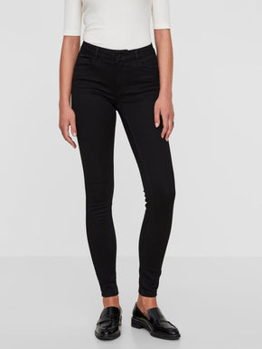 VMSEVEN SHAPE-UP SKINNY FIT BLACK JEANS