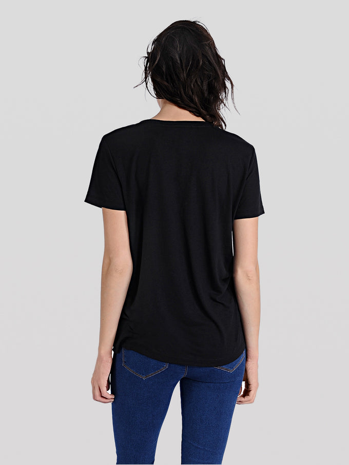 COLOURFUL BASIC T-SHIRT BLACK