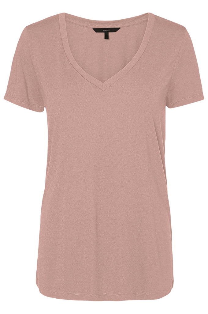 COLOURFUL BASIC T-SHIRT MISTY ROSE