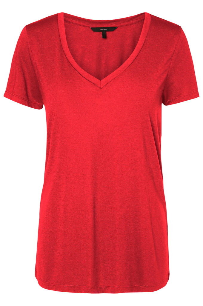 COLOURFUL BASIC T-SHIRT POPPY RED