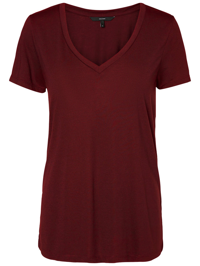 COLOURFUL BASIC T-SHIRT ZINFANDEL
