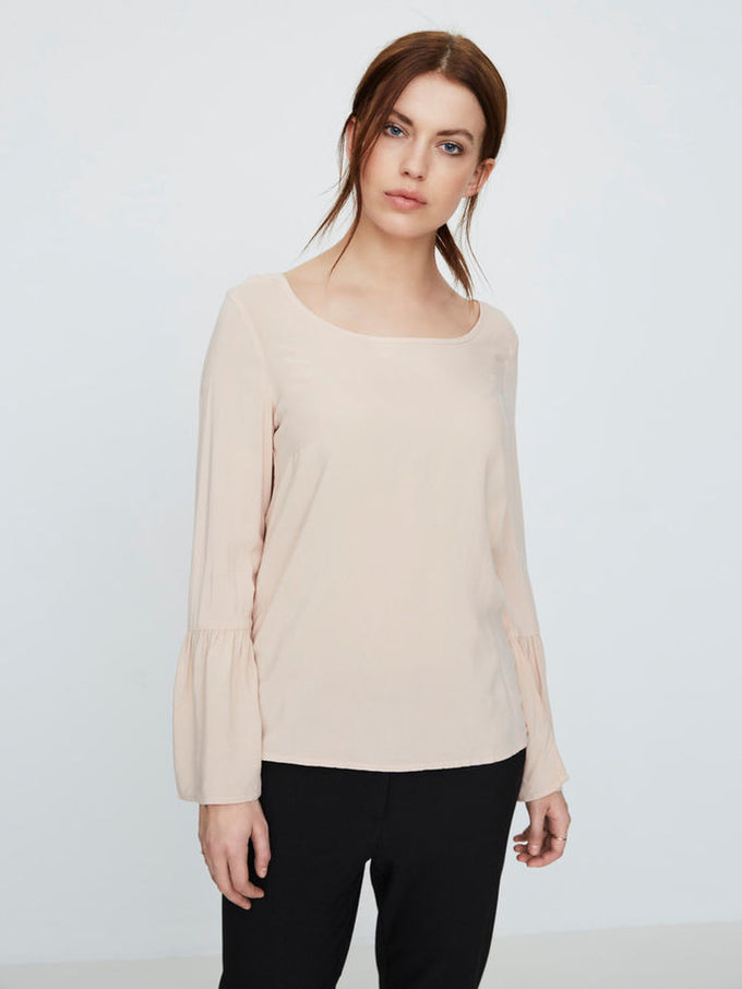 VMMOON BELL SLEEVE BLOUSE DUSTY ROSE