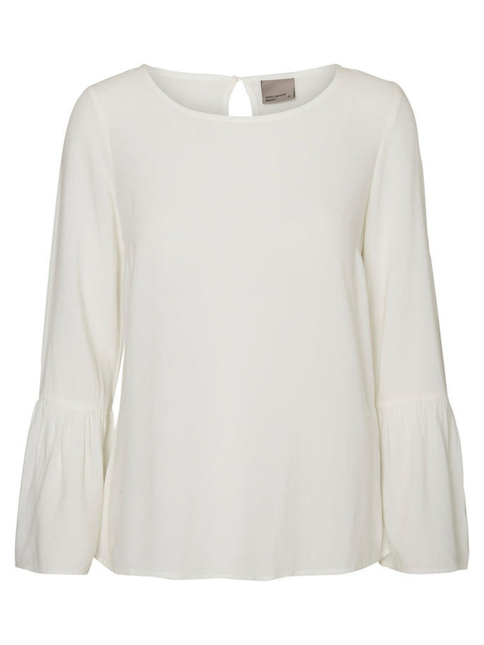 BLOUSE À MANCHES CLOCHES VMMOON BLANCHE NEIGE