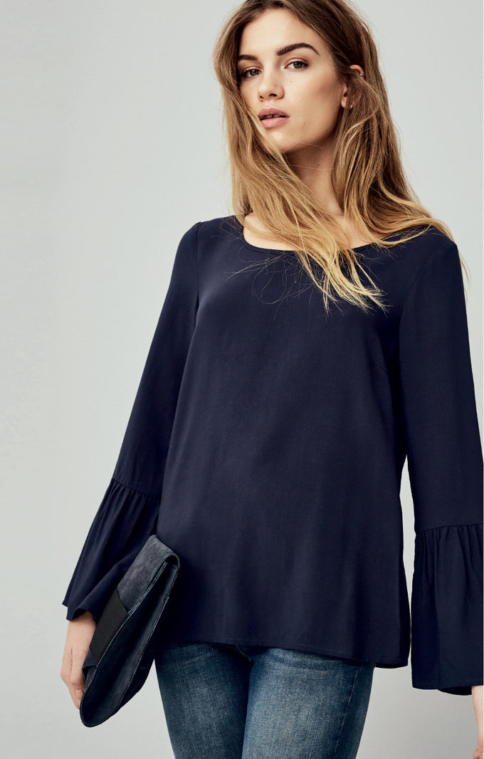 VMMOON BELL SLEEVE BLOUSE BLACK BEAUTY