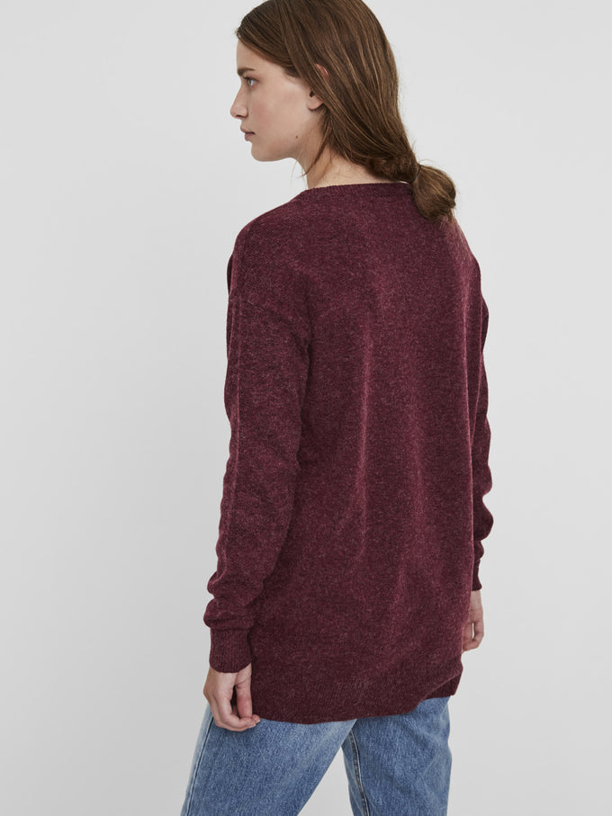 LONG OVERSIZED SWEATER ZINFANDEL