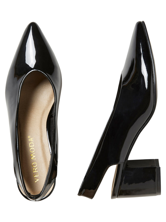 BLOCK HEEL PUMPS BLACK
