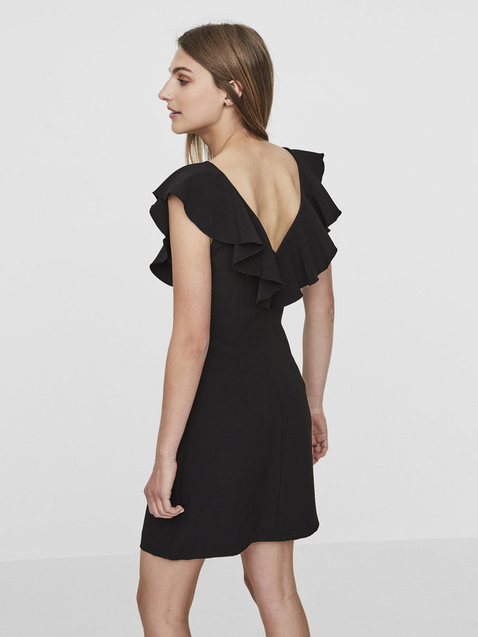 FRILLED PARTY DRESS BLACK BEAUTY