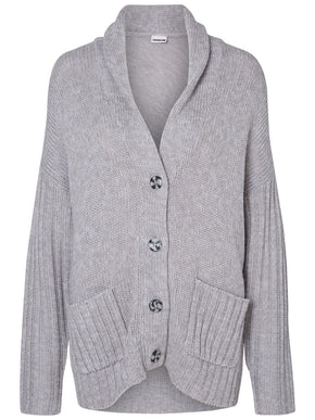 OVERSIZED WOOL-BLEND CARDIGAN