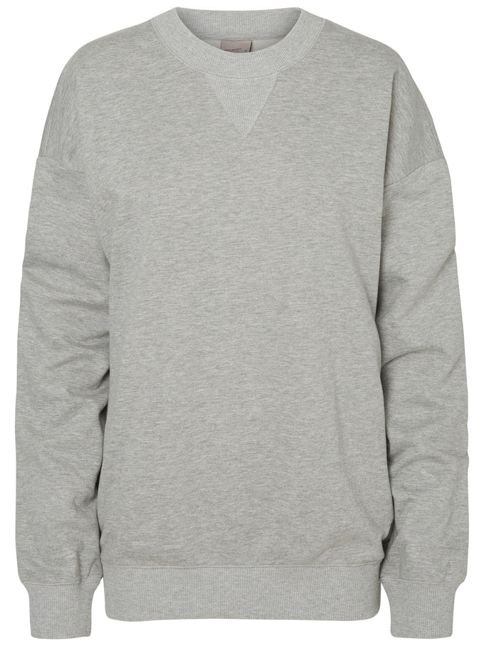 OVERSIZED SWEATSHIRT LIGHT GREY MELANGE