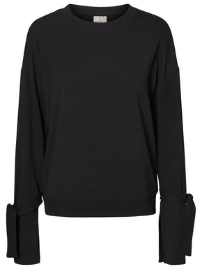 KNOTTED BELL SLEEVE SWEATSHIRT