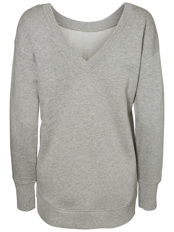 LONG LIGHT SWEATSHIRT LIGHT GREY MELANGE