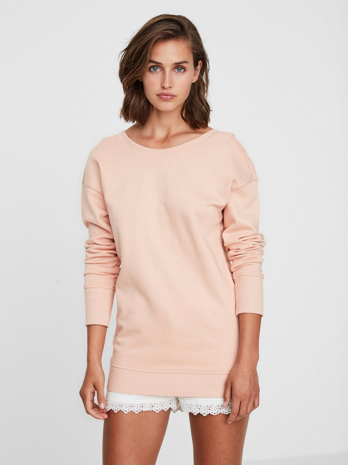LONG LIGHT SWEATSHIRT ROSE CLOUD